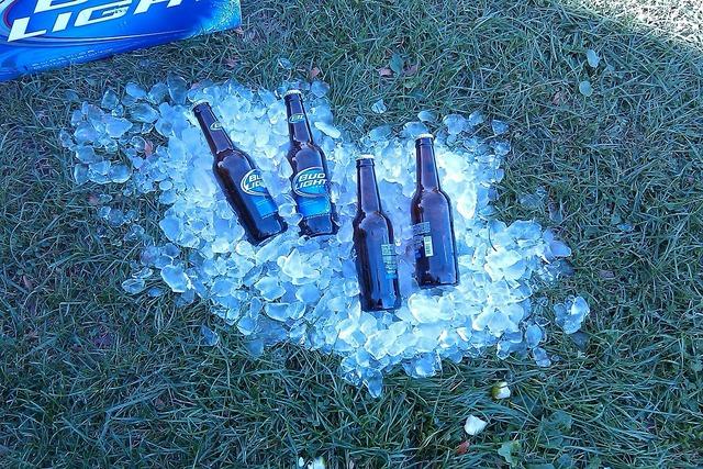 Beer ice drink, food drink.
