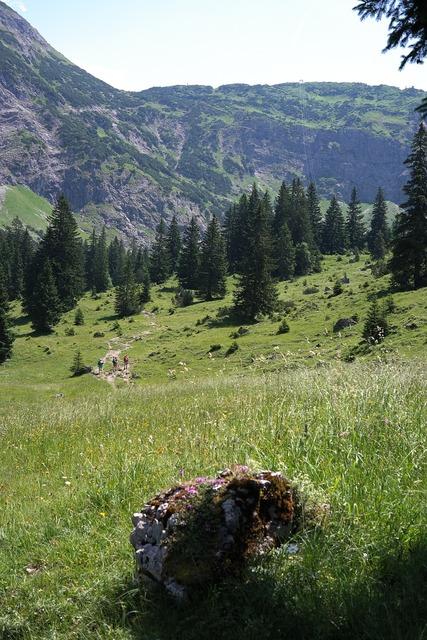 Behind steiner tal hike mountains.