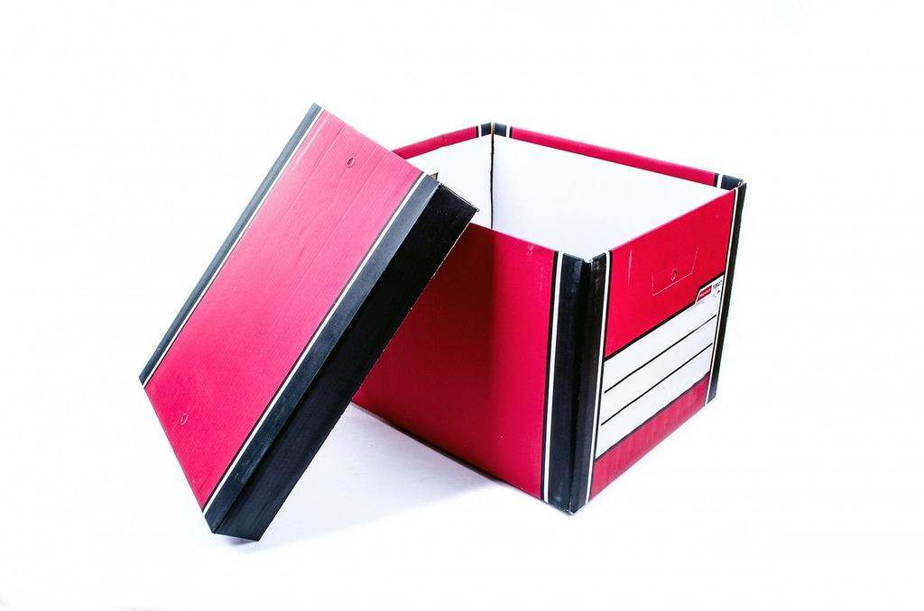 Beige board box, business finance.