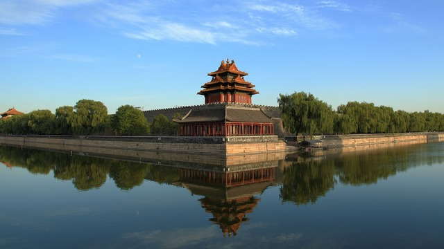 Beijing the national palace museum turret, architecture buildings.