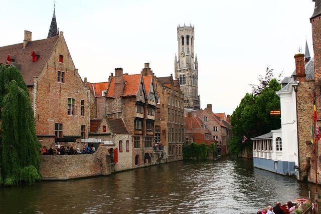 Belgium bruges middle ages, architecture buildings.