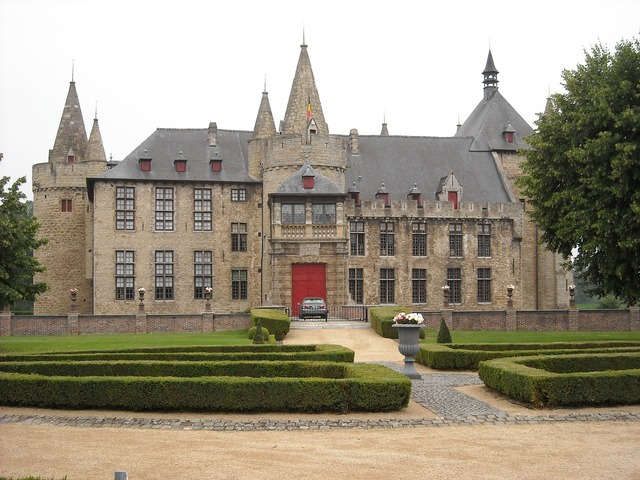 Belgium laarne castle, architecture buildings.