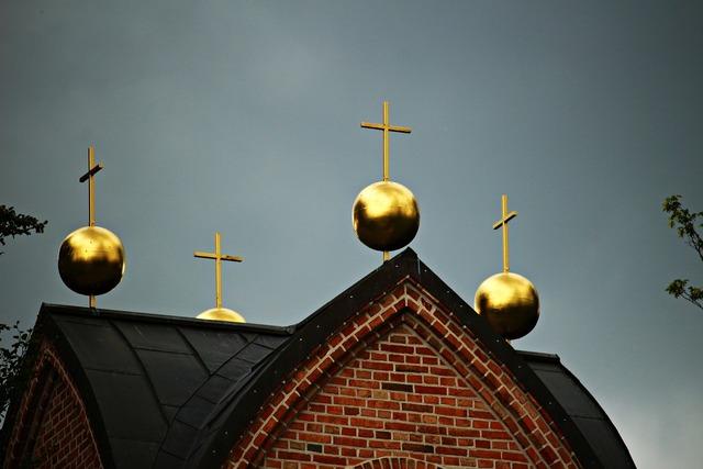 Bell tower ball gold.