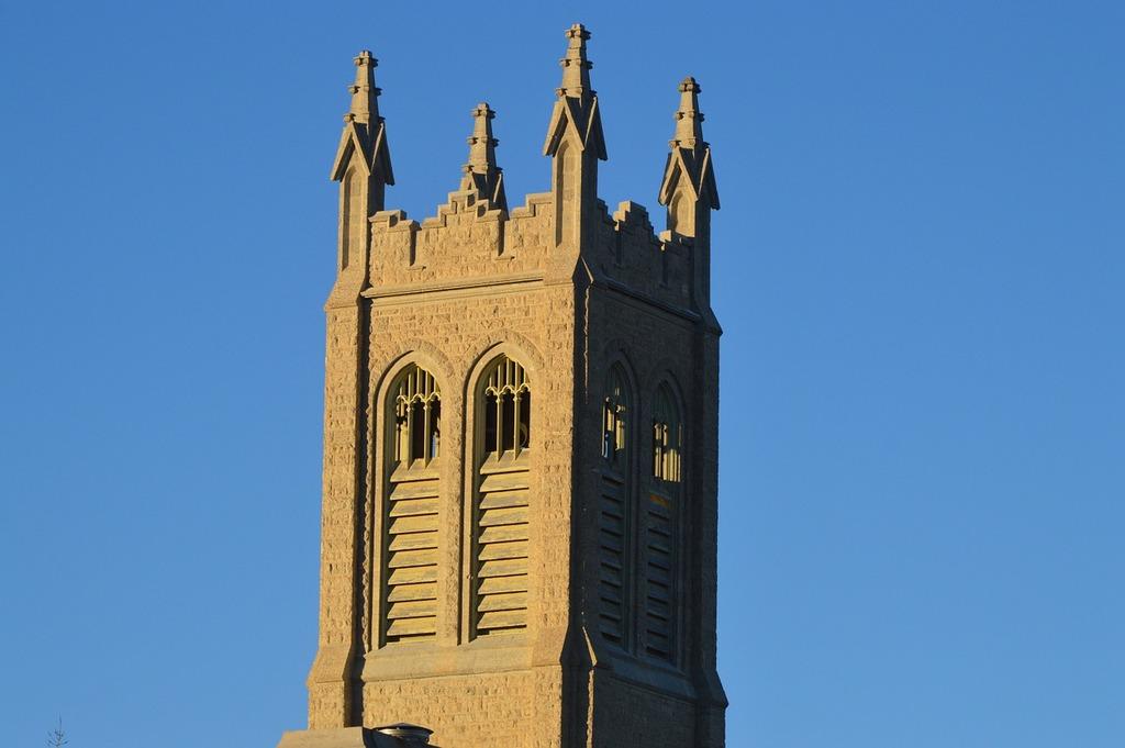Bell tower church blue sky, religion.