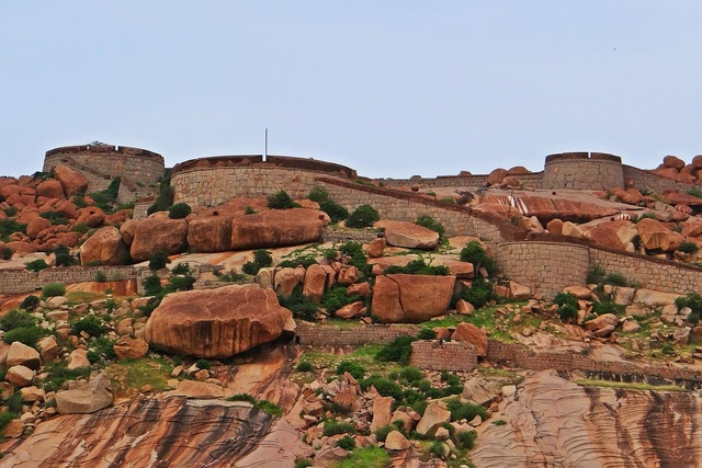 Bellary fort historic, architecture buildings.