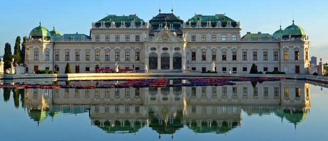 Belvedere castle baroque, architecture buildings.