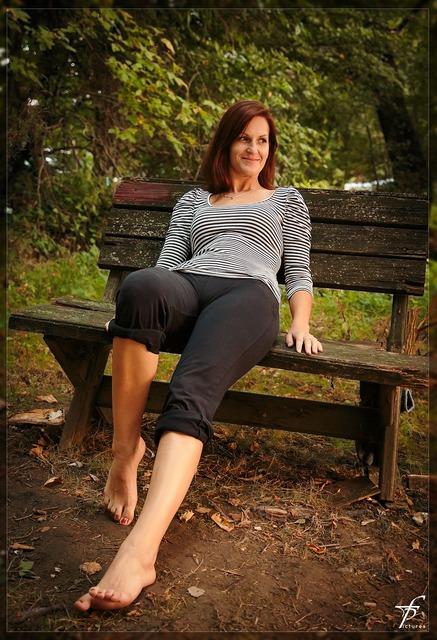Bench female woman, beauty fashion.