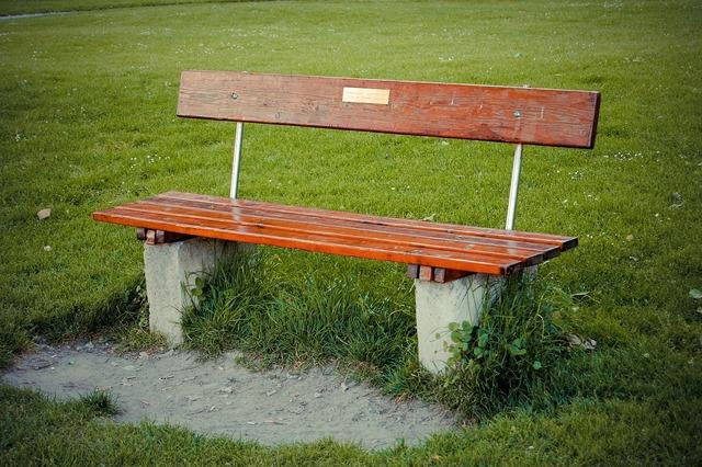 Bench park sit.