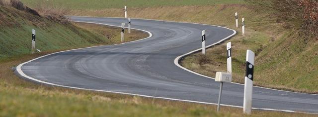 Bend course road, transportation traffic.