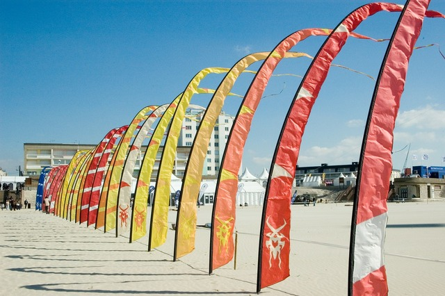 Berck kite beach, travel vacation.