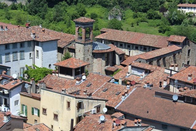 Bergamo high city historical centre.