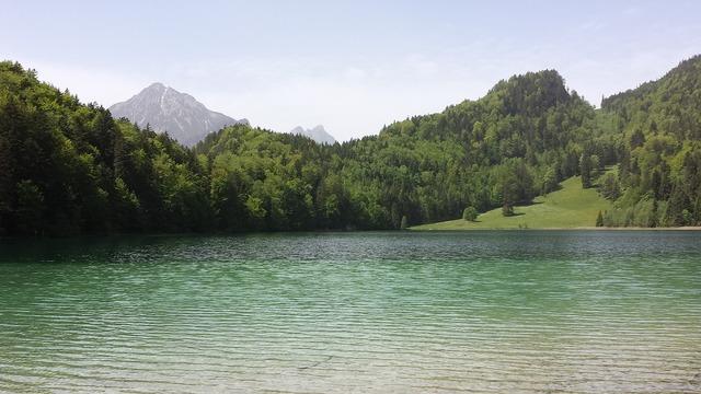 Bergsee summer allgäu, nature landscapes.