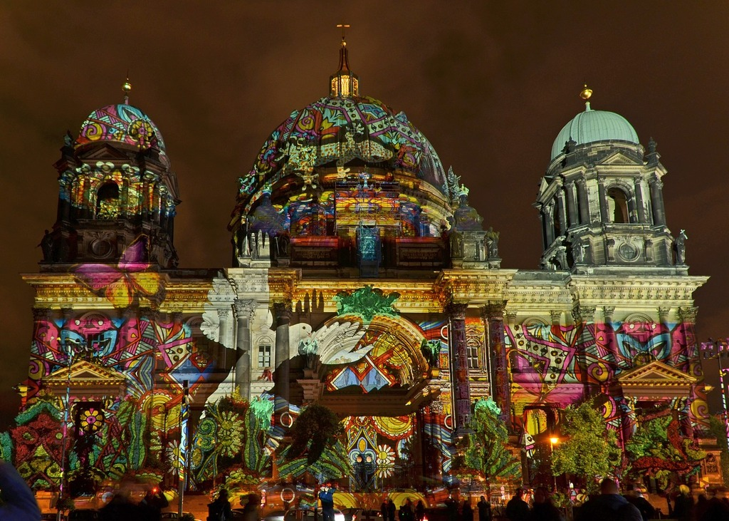 Berlin cathedral berlin festival of light, architecture buildings.