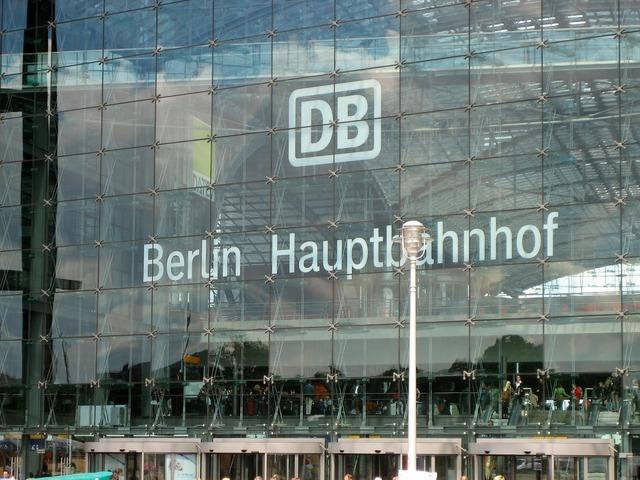 Berlin central station glass facade.