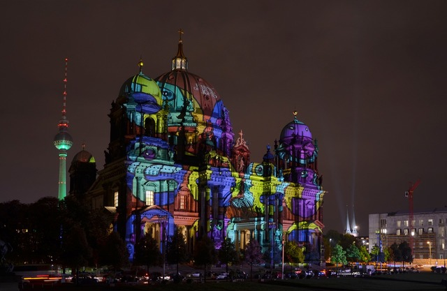 Berlin festival of lights berlin cathedral, places monuments.