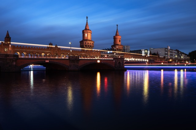 Berlin germany oberbaum bridge.