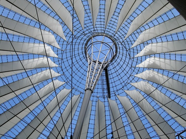 Berlin germany sony center, architecture buildings.