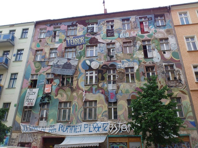 Berlin kreuzberg friedrichshain, architecture buildings.