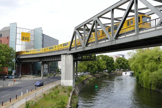 Berlin kreuzberg ubahn, transportation traffic.