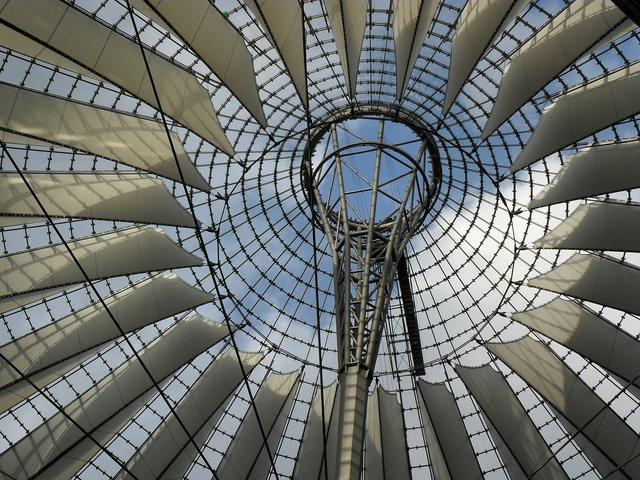 Berlin sony center roof.