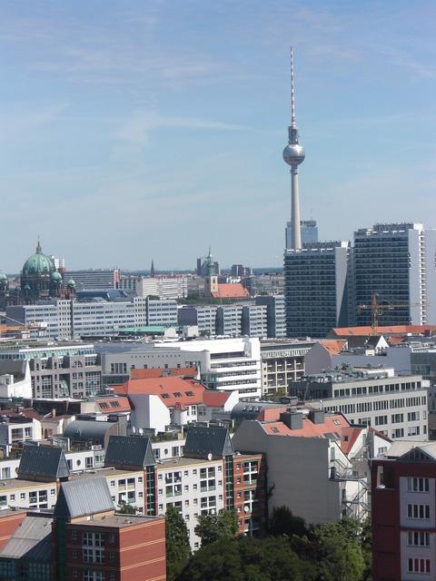 Berlin tv tower germany.