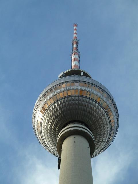 Berlin tv tower sky.