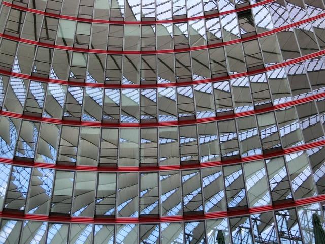 Berlin window mirror glass, architecture buildings.