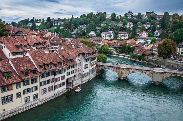 Bern switzerland river.
