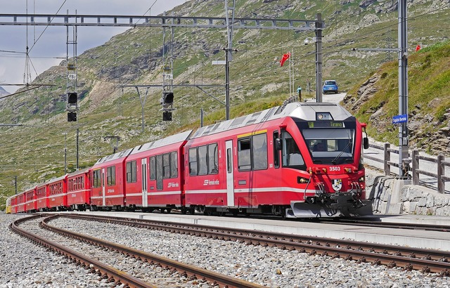 Bernina railway regional train pass, travel vacation.