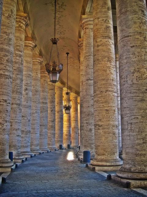Bernini's colonnade st peter's square, places monuments.