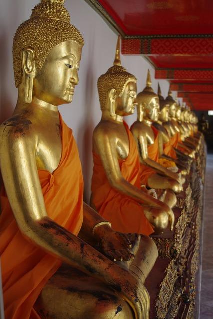 Bhuddist temple temple bangkok, religion.