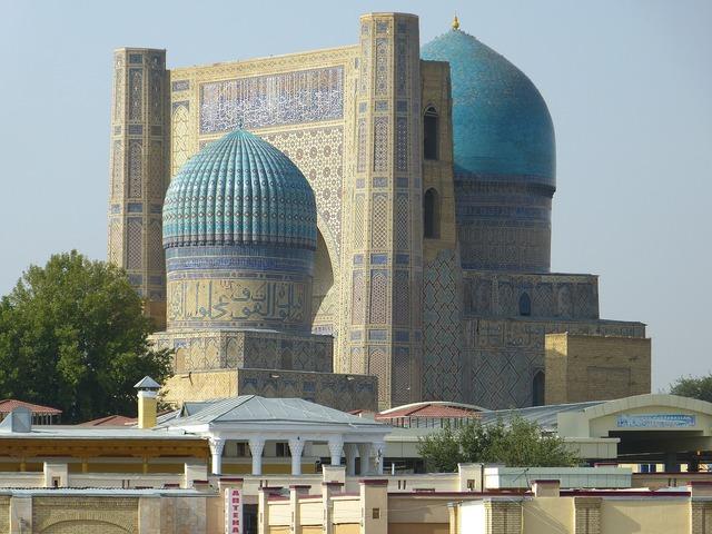 Bibi xanom mosque samarkand, architecture buildings.