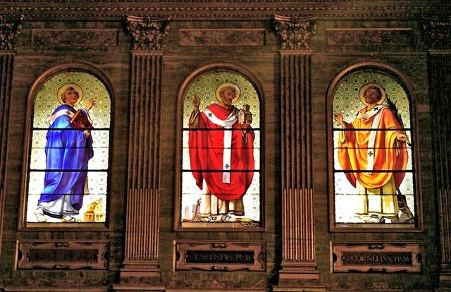 Biblical church saints, religion.
