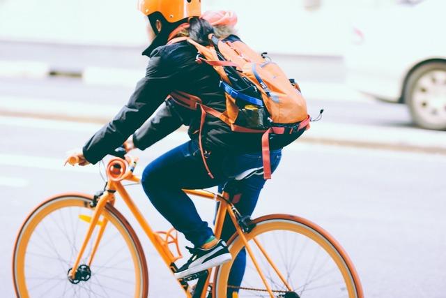 Bicycle bike biker, people.
