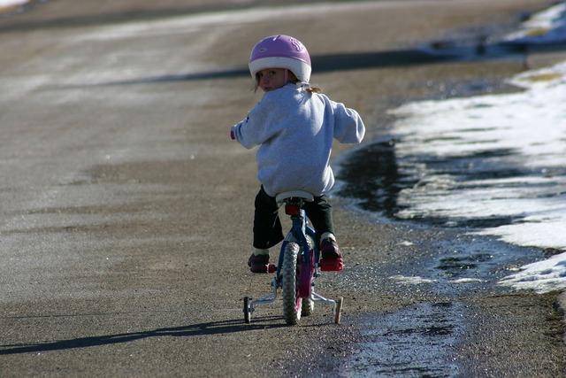 Bicycle girl biking, people.