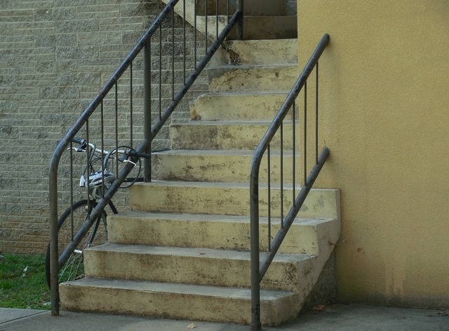 Bicycle stairs building, architecture buildings.
