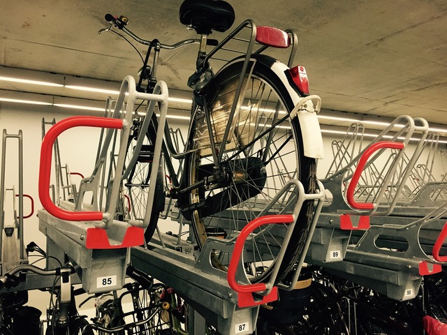 Bicycle station stabling.