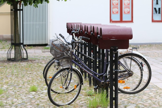 Bicycles courtyard rain protection.