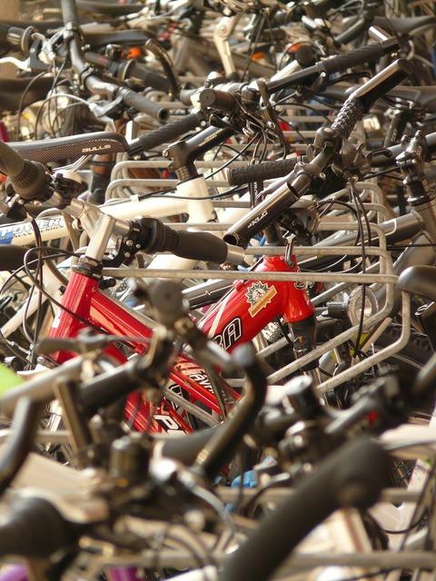 Bicycles handlebars wheel, transportation traffic.