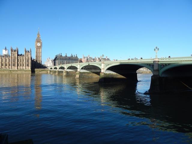 Big ben london bridge london.