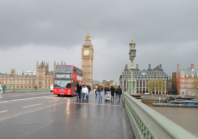 Big ben london england, transportation traffic.