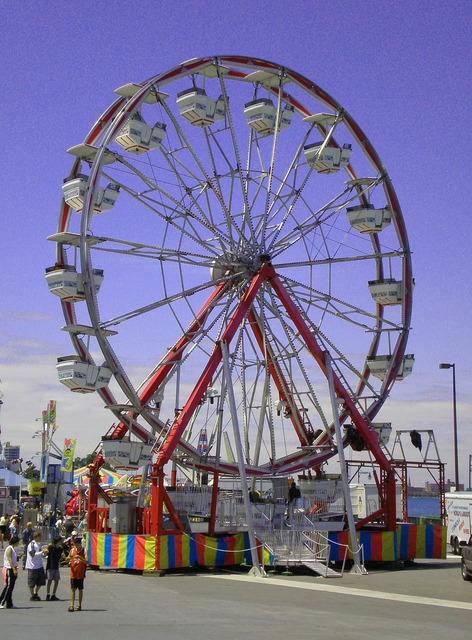 Big wheel carnival ferris wheel.