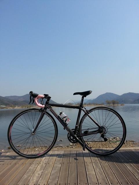 Bike cycle river.