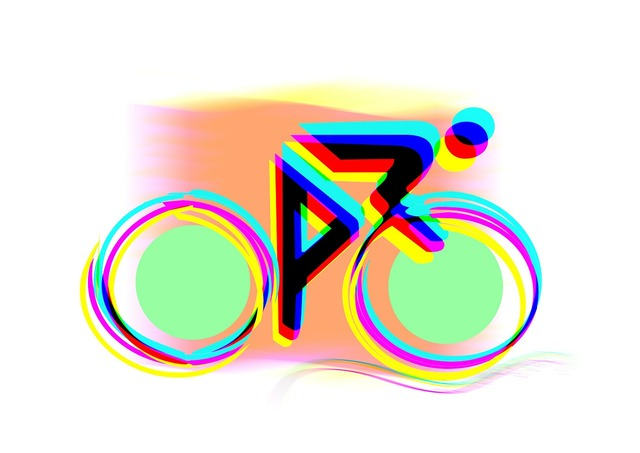 Bike logo abstract, sports.