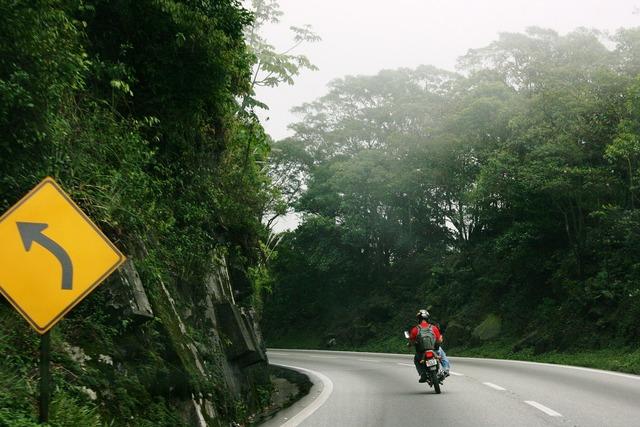 Bike motorcycle curve, transportation traffic.