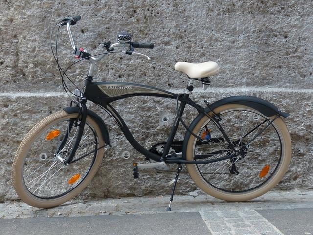 Bike nostalgic land vehicle, transportation traffic.
