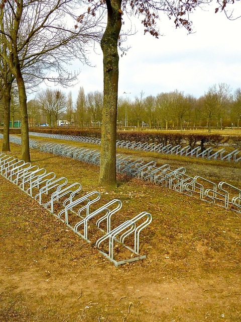 Bike rack parking rack, transportation traffic.