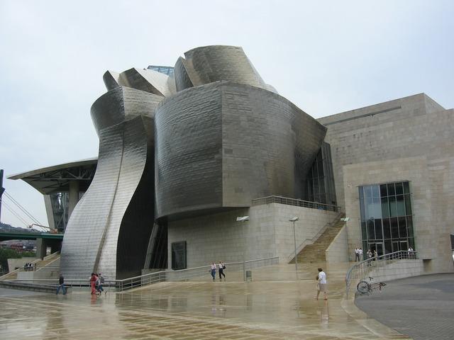 Bilbao museum spain, architecture buildings.