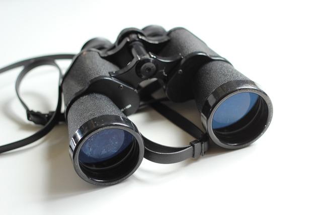 Binoculars old antique.