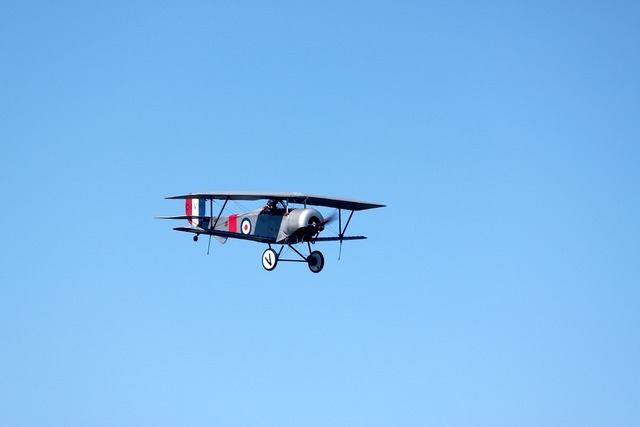 Biplane airplane flight.